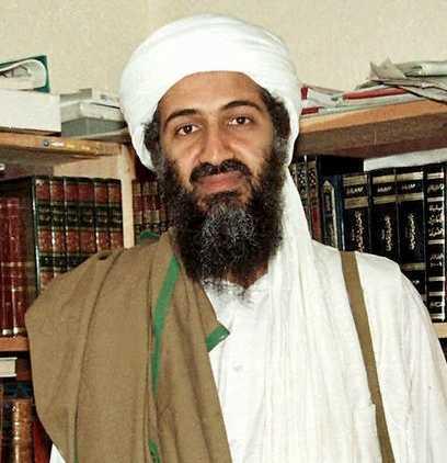 Usama bin Ladin. Bilden tagen i Afghanistan 1998.