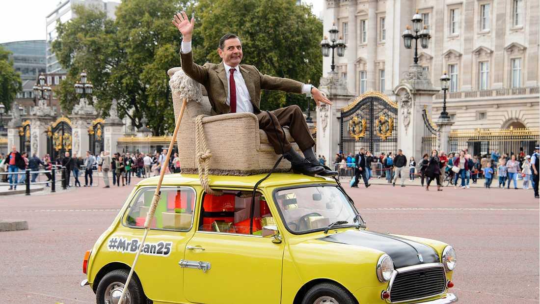Mr Bean firade 25-års jubileum utanför Buckingham Palace 2015.