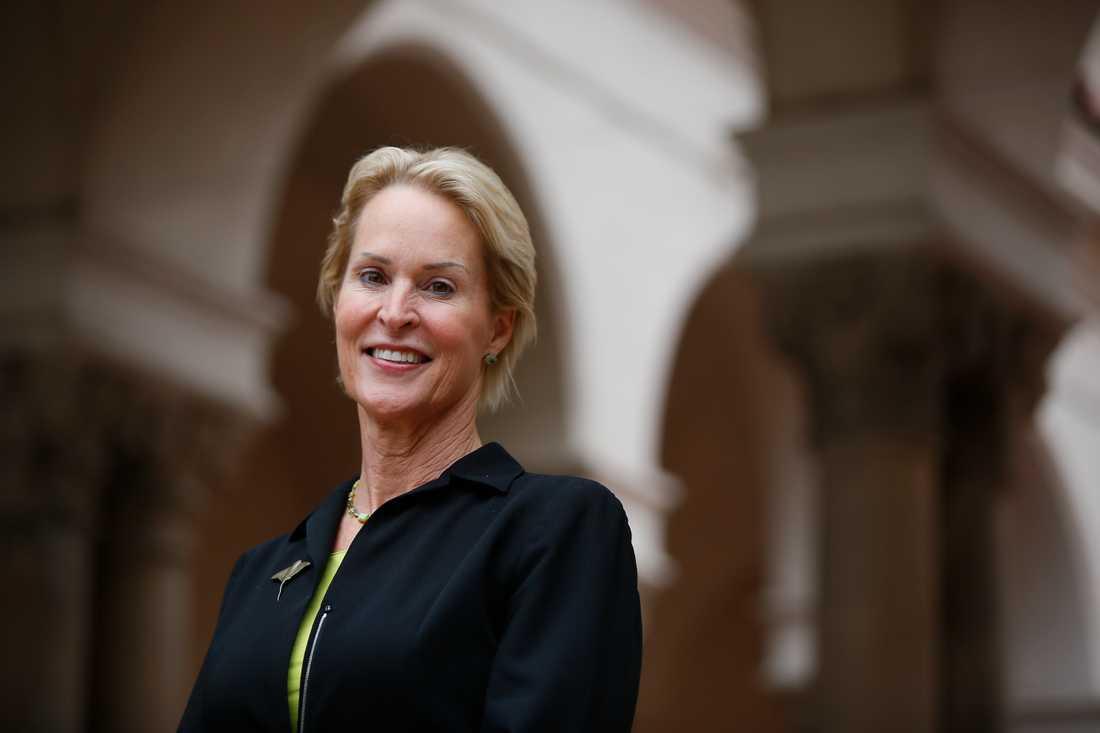 Nobelpristagaren Frances Arnold vid California Institute of Technology 3 oktober i år.