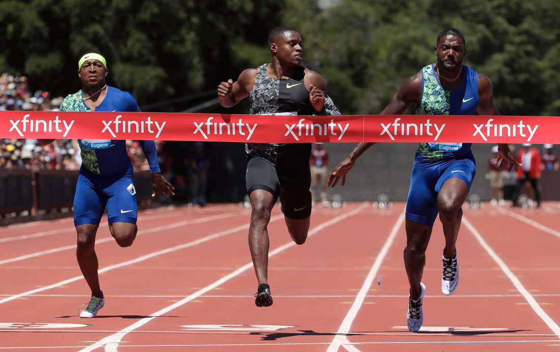 Christian Coleman vinner 100-metersloppet i Stanfords Diamond League.