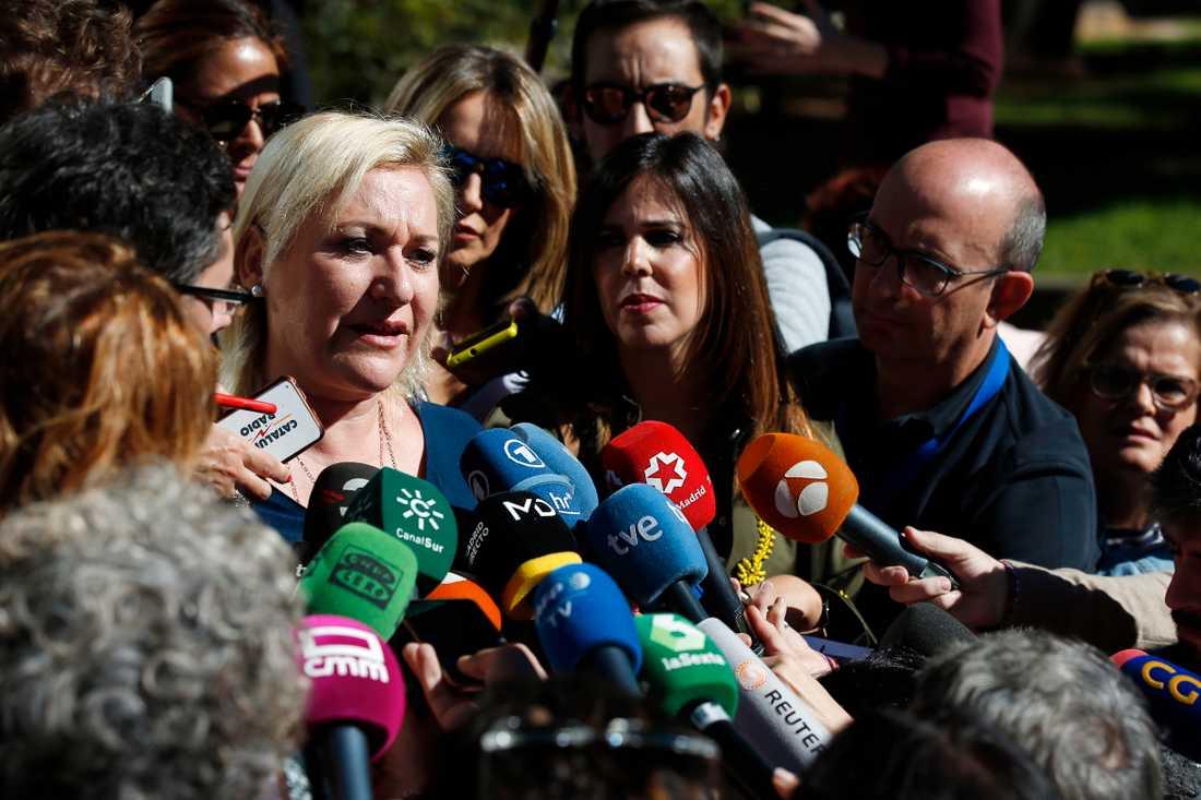 Inés Madrigal under rättegången 2018, där det slogs fast att hon som spädbarn stulits från sin mamma. Arkivbild.