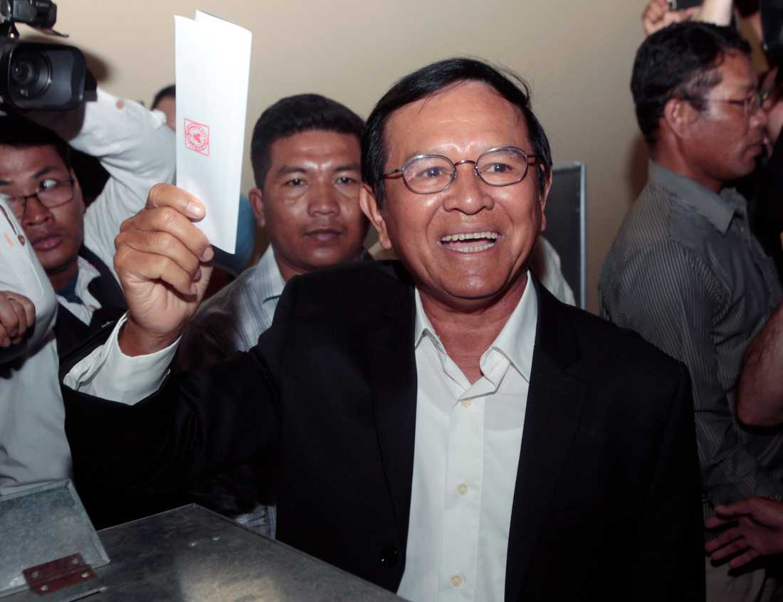 Kambodjas oppositionsledare Kem Sokha. Arkivbild.