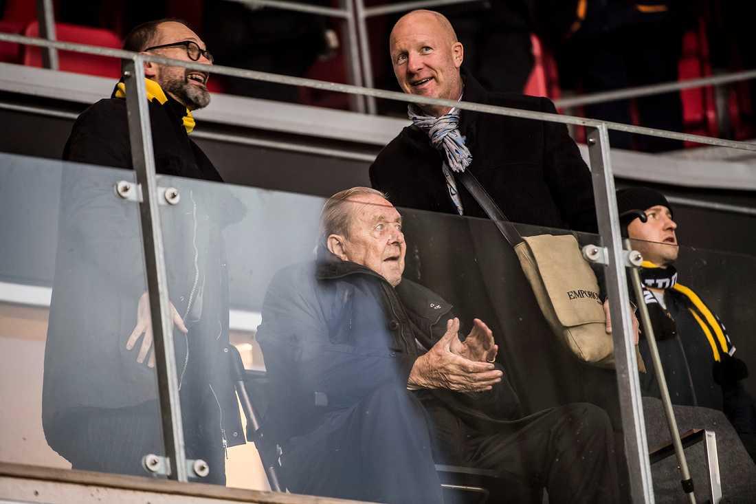 Lennart Johansson på plats i Kalmar när AIK säkrade SM-guldet i november i fjol.