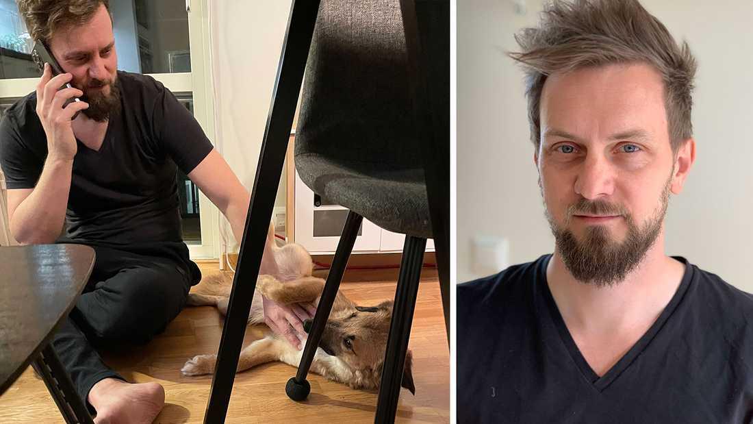 – Man vet själv vilken ångest man skulle ha om det var ens egen hund som sprang bort. Det känns skönt att ha kunnat hjälpa till, säger David Lindström.