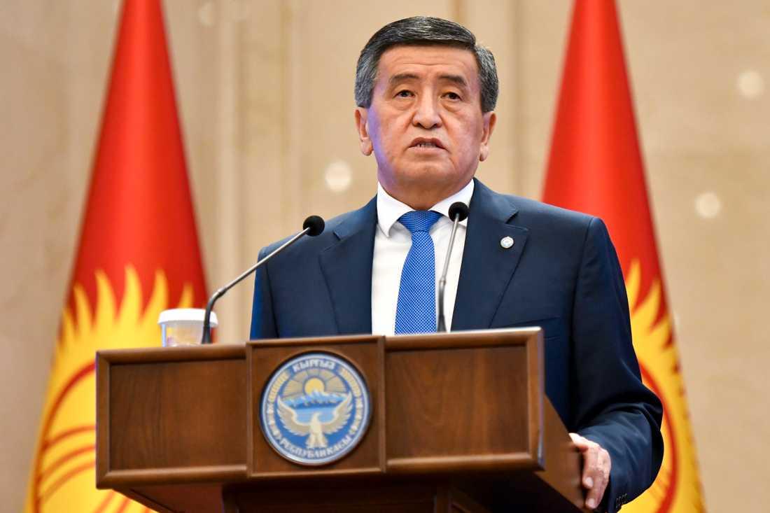 Kirgizistans expresident Sooronbai Jeenbekov. Arkivbild.