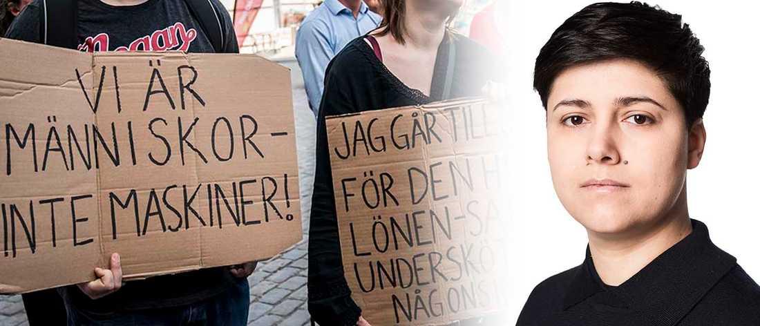 Demonstration av Undersköterskeupproret i augusti.