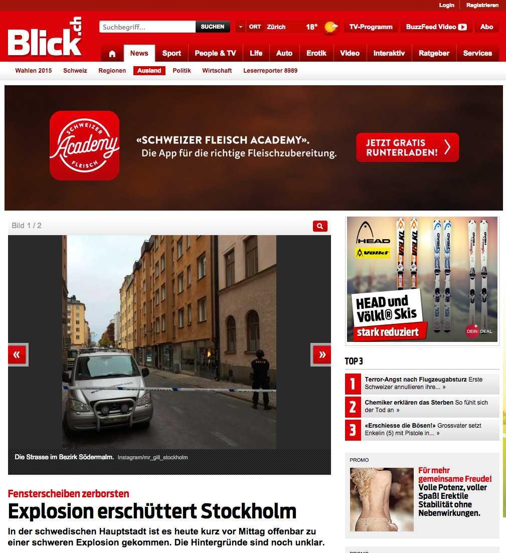Faksimil från Blick.
