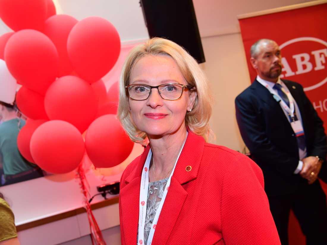 Socialdemokraternas toppkandidat Heléne Fritzon.