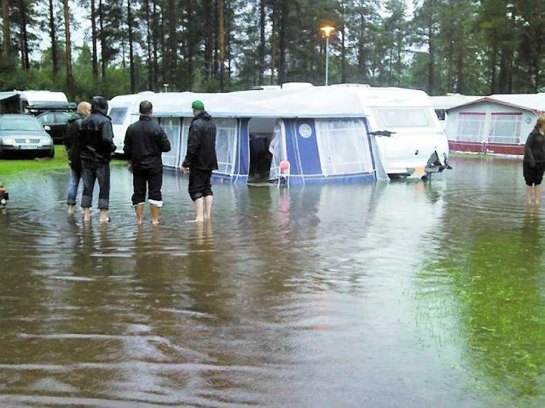 borlänge På Melstaparkens camping i Borlänge hade alla plötsligt tillgång till pool.