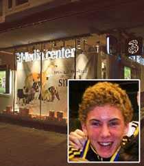Sebastian Myrbäck misshandlades utanför en butik bredvid Hotell Anglais. Foto: URBAN ANDERSSON