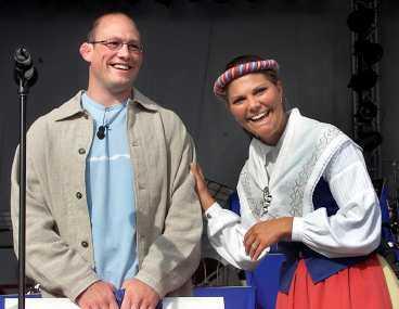 Mikael Ljungberg fick ta emot Victoriastipendiet vid en ceremoni på Öland 2001.