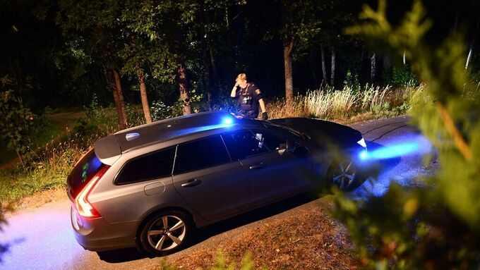 Polisen på plats i Märsta.