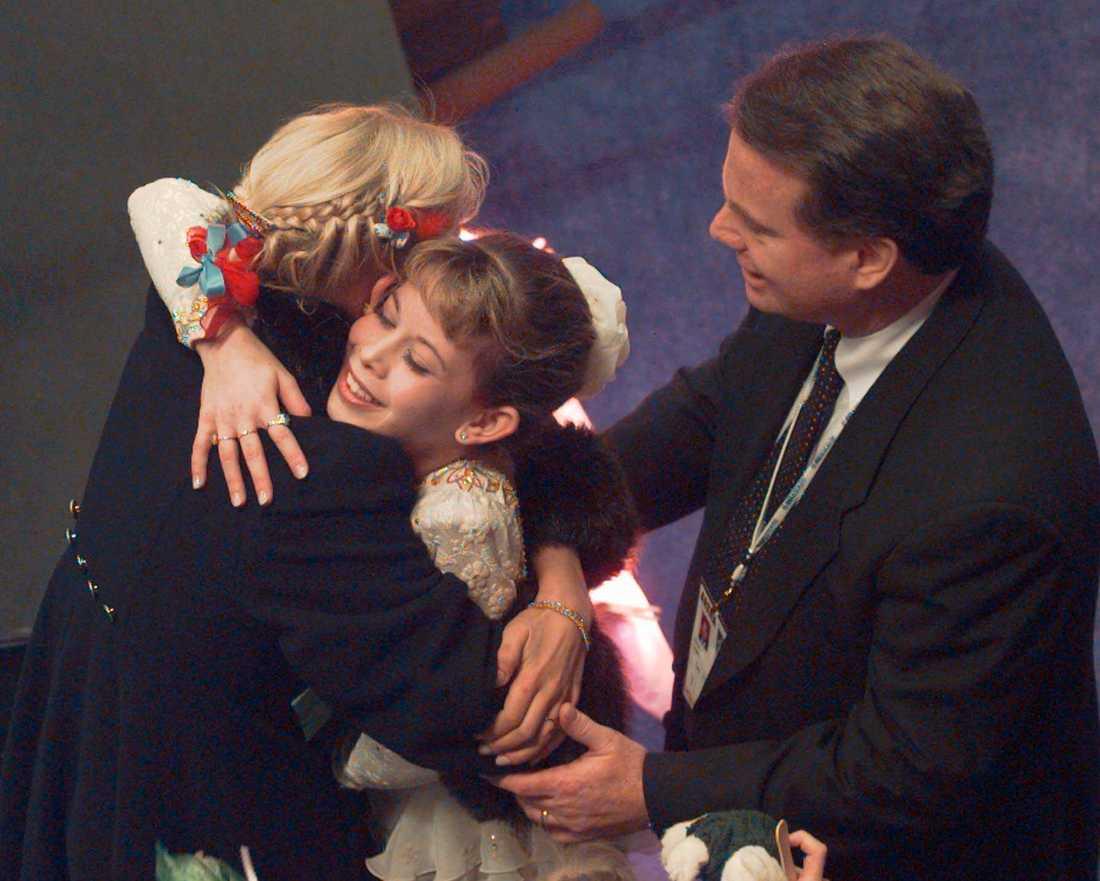 Richard Callaghan firar Lipinskis OS-guld 1998