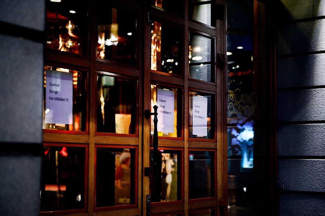 Casino Cosmopol har tvingats stänga två gånger på två dygn.