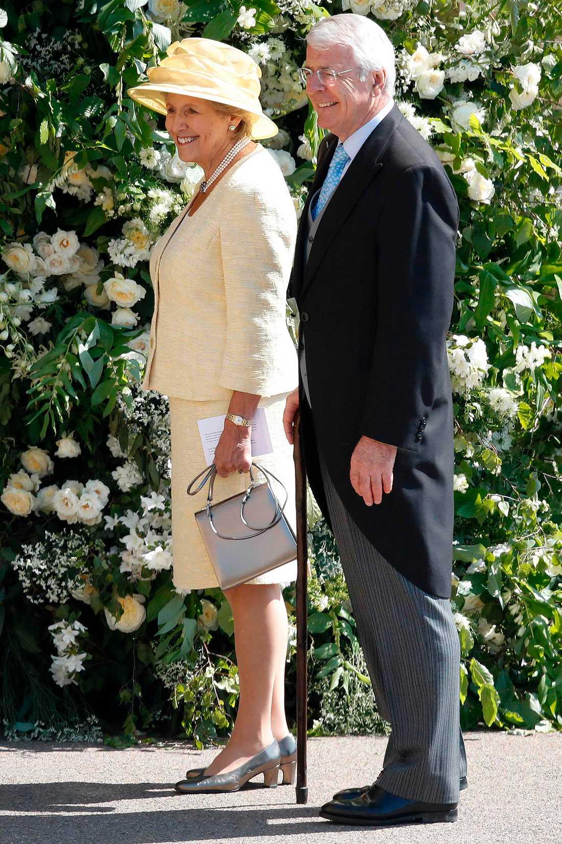 Förre Premiärministern John Major med sin fru Norma.