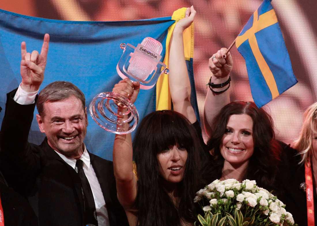 """Fick äntligen jubla Christer Björkman har fått utstå massiv kritik för sin insats som schlagergeneral. I går kom revanschen när Loreen tog hem Eurovision song contest med sin """"Euphoria""""."""