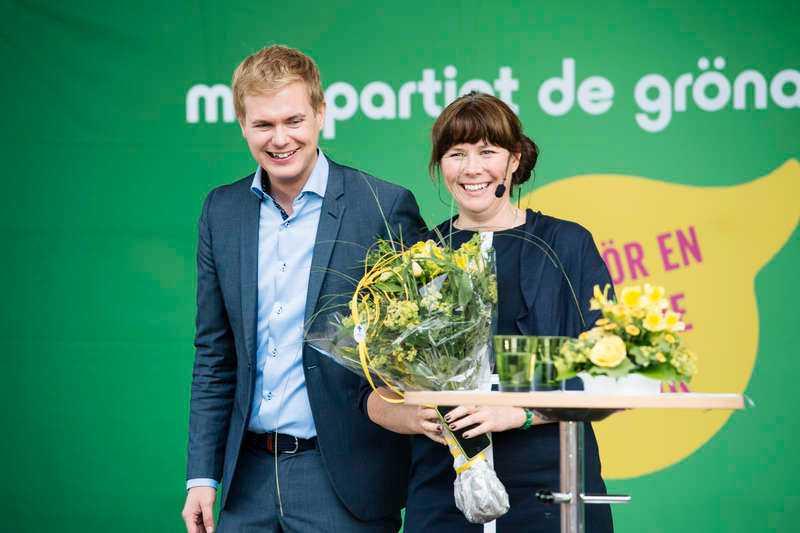 Gustav Fridolin och Åsa Romson, Miljöpartiets språkrör.