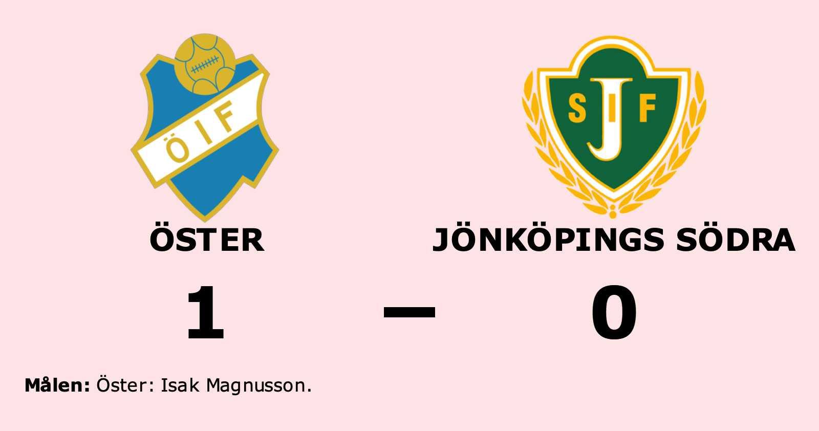 Uddamålsseger när Öster besegrade Jönköpings Södra