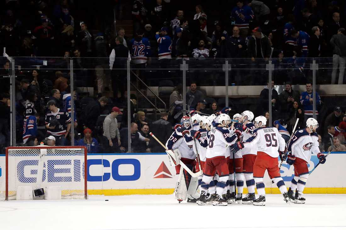Columbus säkrade slutspelsplatsen mot NY Rangers