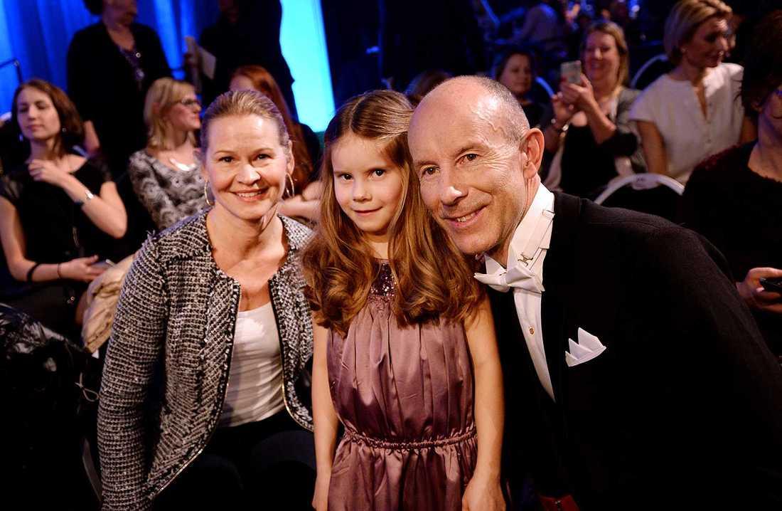 Ingemar Stenmark med familjen.