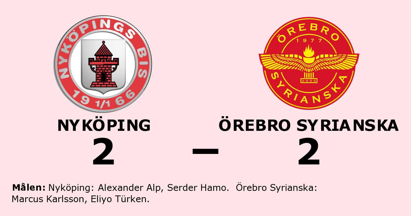 Nyköping fixade en poäng mot Örebro Syrianska