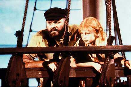 Negerkungen själv Beppe Wolgers, som pappa Efraim och Inger Nilsson som Pippi.