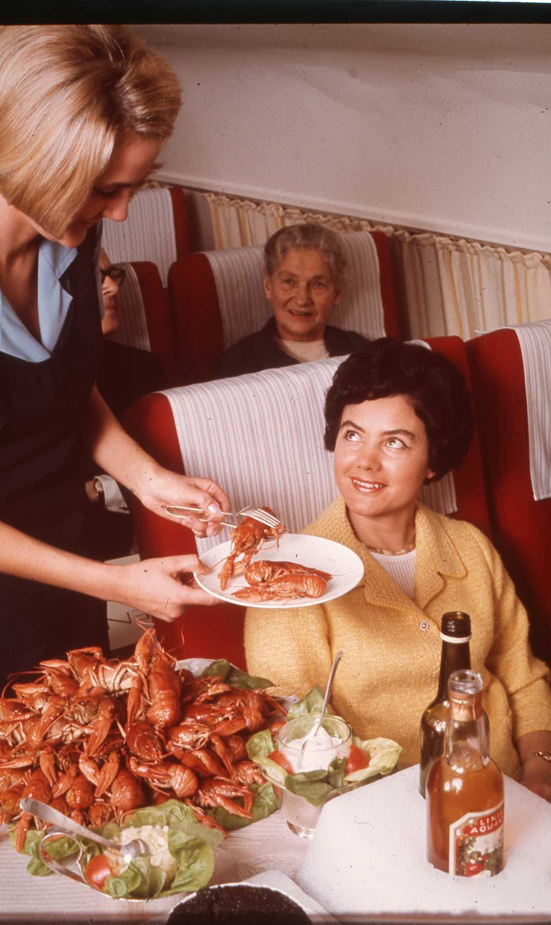 Servering av hummer på 1960-talet.