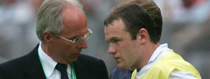 Svennis och Rooney under fotbolls-VM 2006.