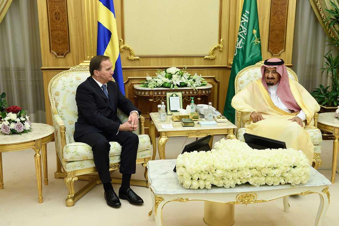 Stefan Löfven besökte  Saudiarabiens kung Salman bin Abdul Aziz förra året.