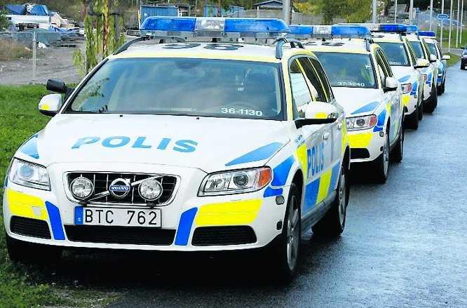 Ingripandepoliser i Stockholm.