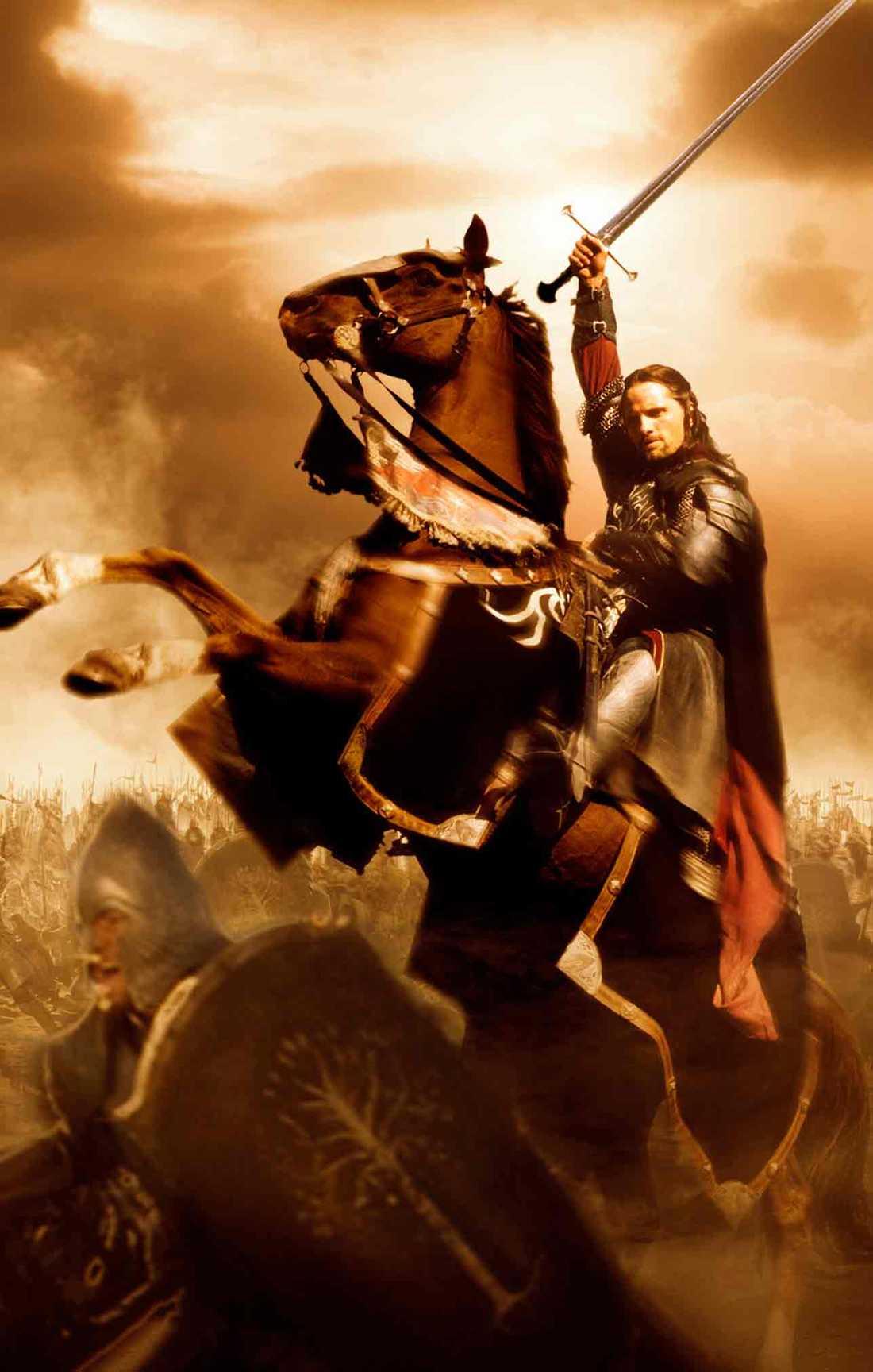 """Viggo Mortensen som Aragorn i """"Sagan om konungens återkomst""""."""