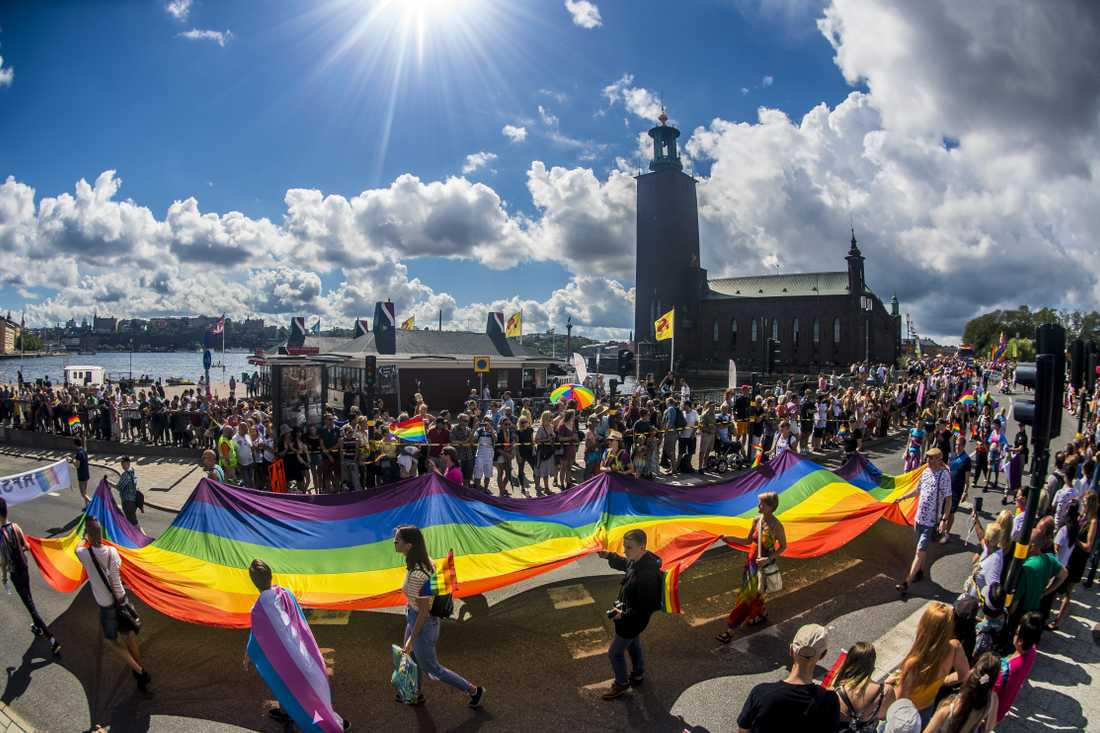 Pride i Stockholm 2018.