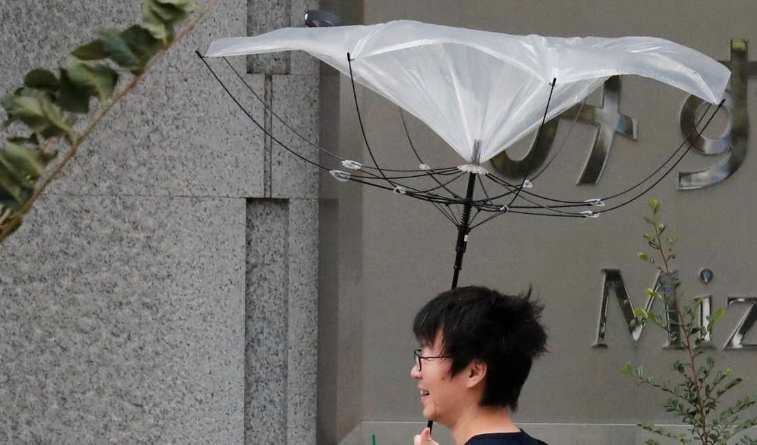 Paraplykamp i Tokyo.