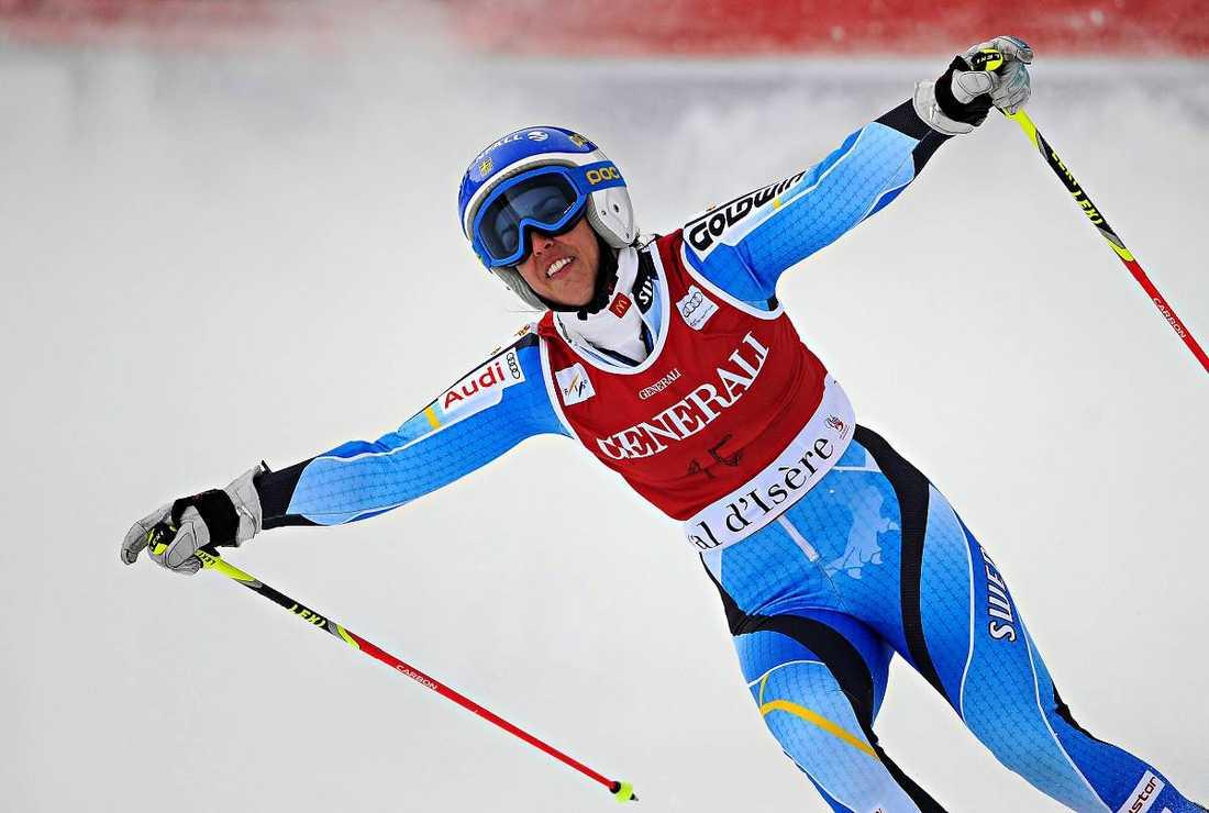 På pallen i går Maria Pietilä Holmner tog i går sin första pallplats i VC-storslalomen – en av sex svenska pallplaceringar i år.