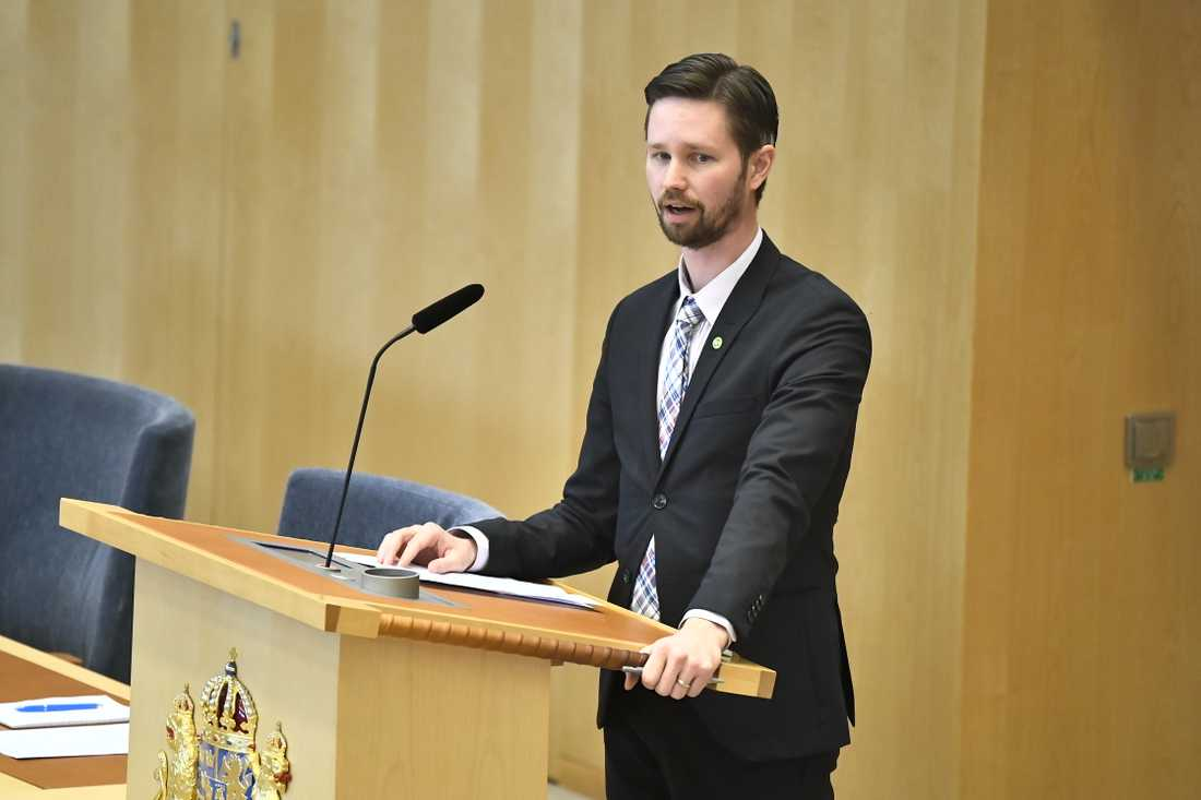 Miljöpartiets rättspolitiske talesperson Rasmus Ling. Arkivbild.