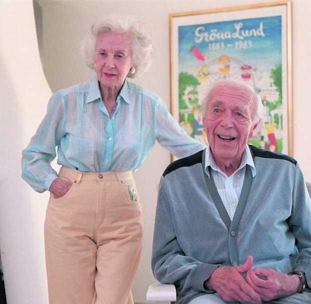 En av de sista bilderna på Lilian och Bertil tillsammans, tagen ett halvår innan prinsen gick bort.