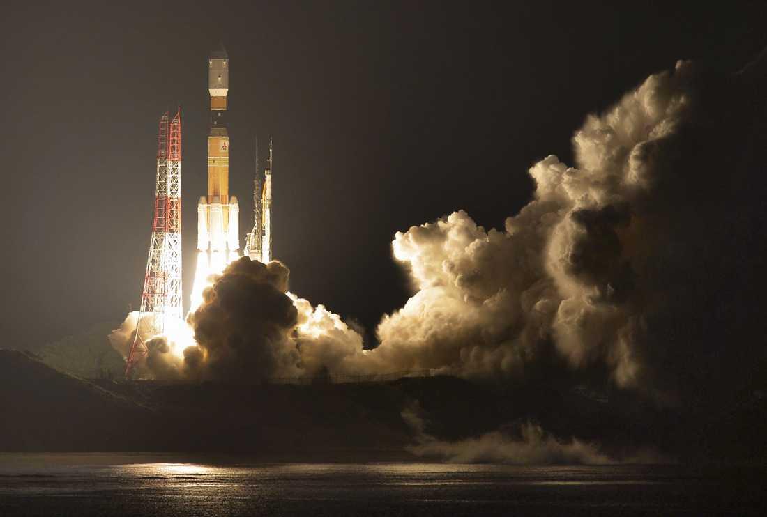 En raket av liknande typ vid en uppskjutning i december 2016.
