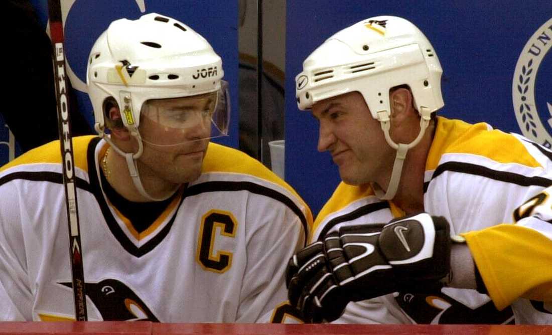 Jagr och Lemieux i Pittsburgh 2001.