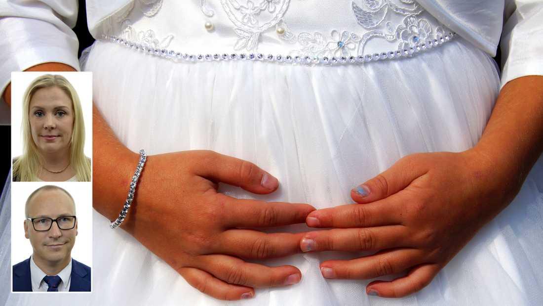 Från Sverigedemokraternas sida kommer vi aldrig att acceptera vare sig officiella eller inofficiella äktenskap med barn, skriver Angelica Lundberg och Mikael Eskilandersson (SD).