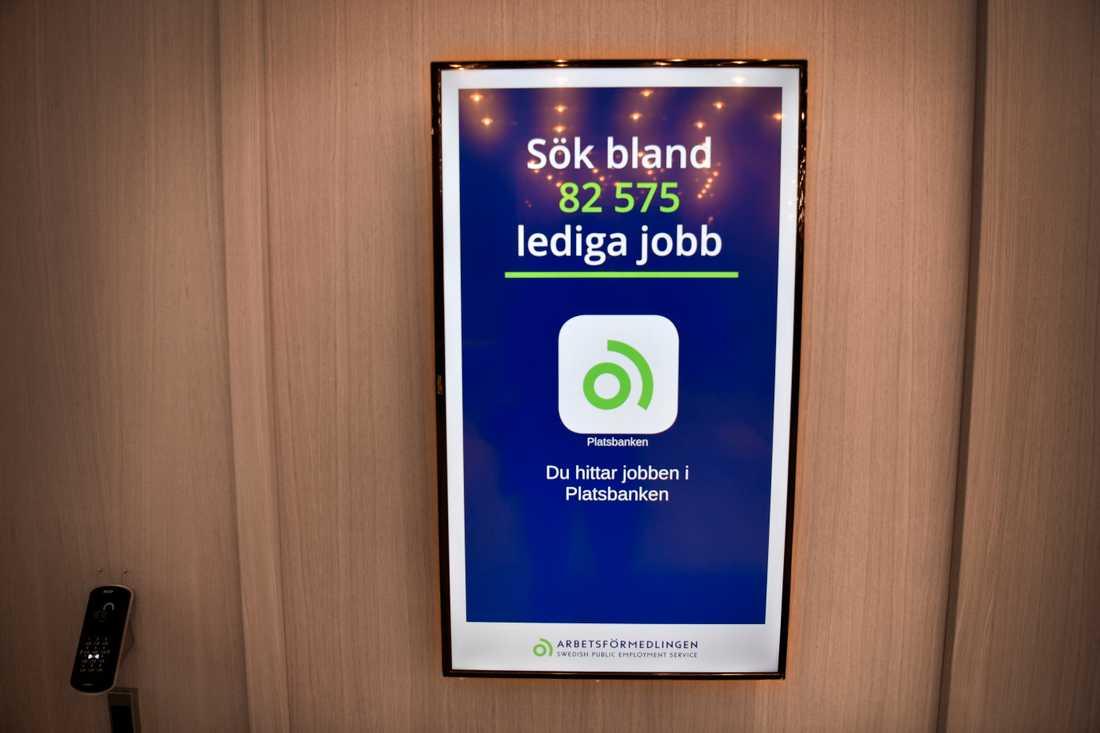 När fler blev arbetslösa fick annonserna på Platsbanken färre klick. Arkivbild.