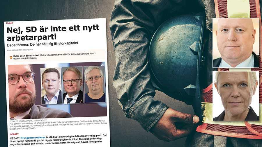Att S gett upp sitt engagemang för svenska löntagare är numera ett vedertaget faktum. Det är också sannolikt med anledning av detta som man nu i sedvanlig anda försöker blanda bort korten och flytta fokus från sina egna misslyckanden. Replik från Magnus Persson och Ann-Christine From Utterstedt, SD.