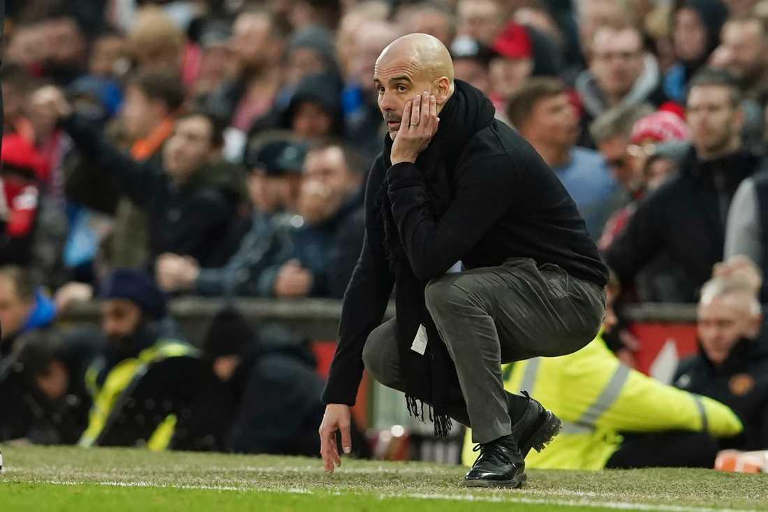Manchester Citys tränare Pep Guardiola. Arkivbild.