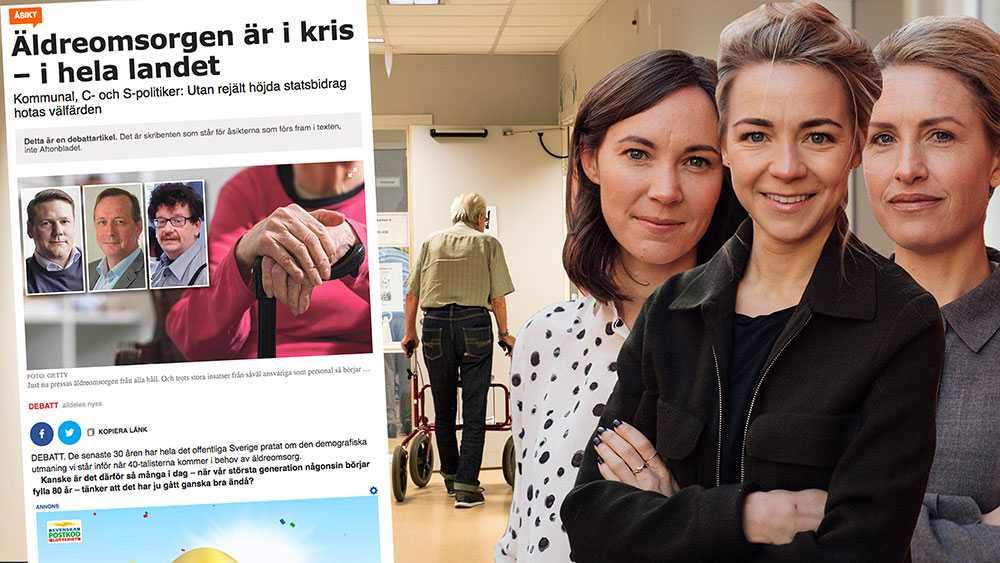 Många som jobbar i äldreomsorgen säger att den negativa bilden tvingar dem att skämmas för sitt yrkesval, skriver Lisa Thambert, Fanny Falkenberg och  Pernilla Kristoffersson, Initiativtagare Seniorval.se och Go-care.se
