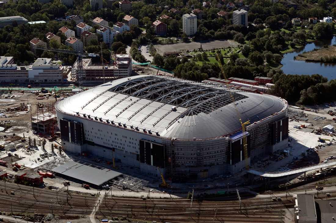 Jättebygget så som det såg ut i september 2009.