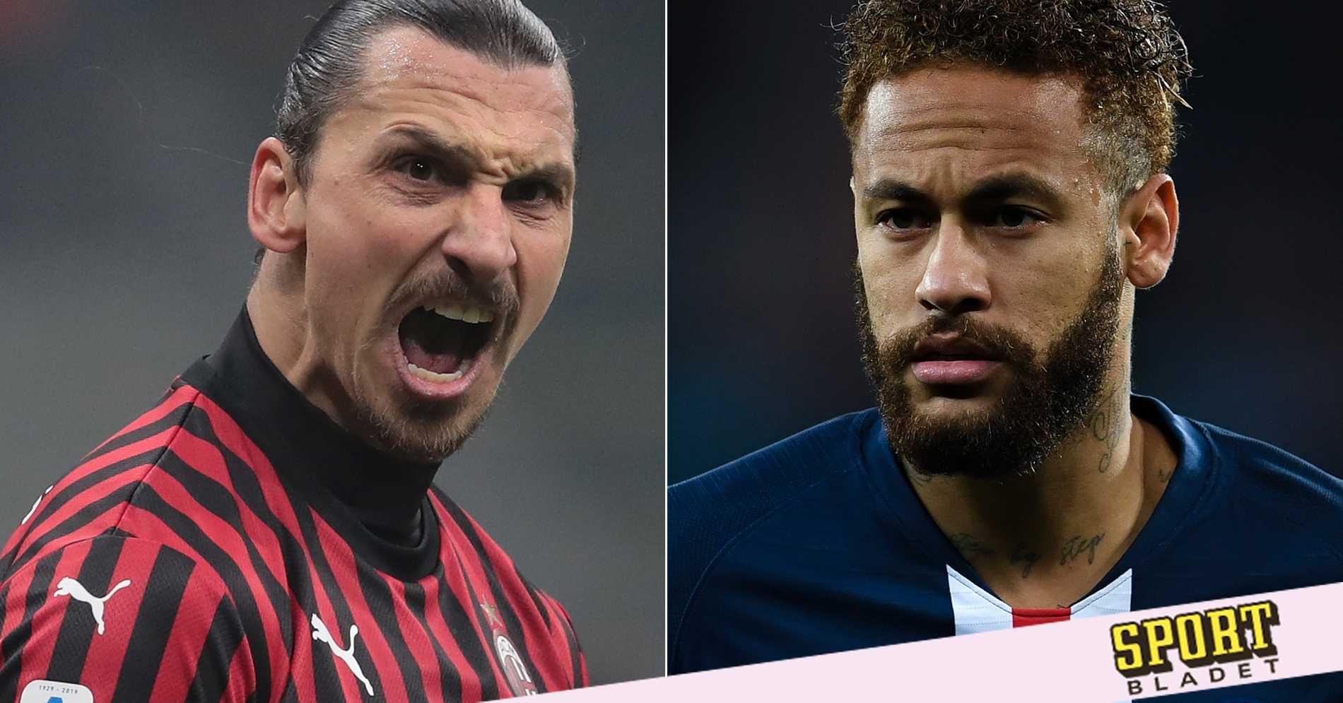 """Neymars hyllning till Zlatan: """"En av de bästa"""""""