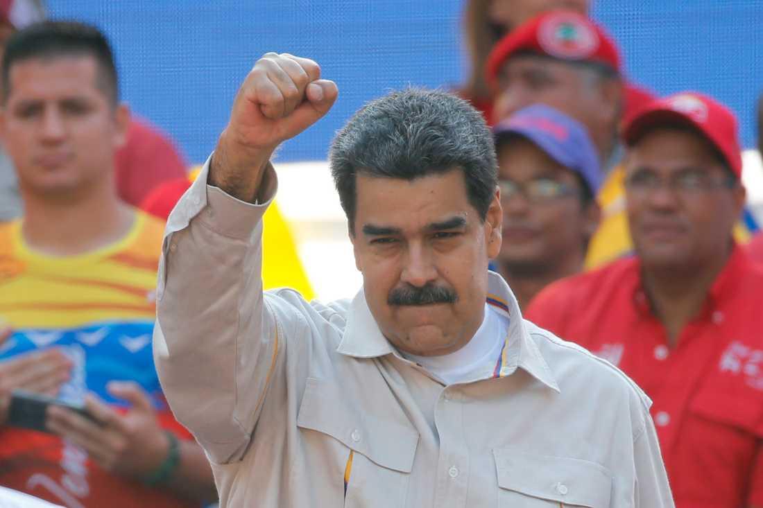 President Nicolás Maduros svar på oppositionens militärunderstödda uppror kan bli våldsamt. Arkivbild.
