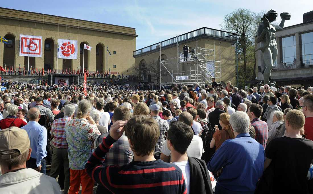 1 maj på Götaplatsen 2012.