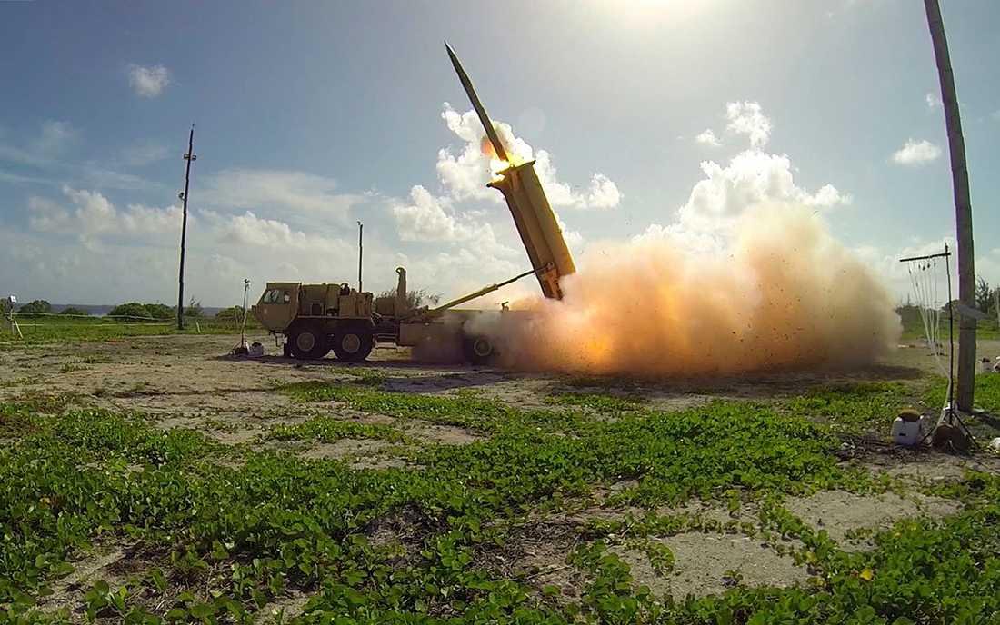 Provskjutning av USA:s robotförsvarssystem THAAD.