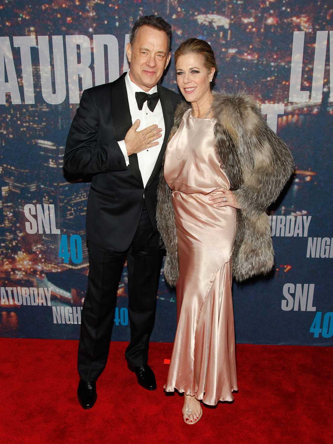 Tom Hanks och Rita Wilson på SNL:s jubileum tidigare i år.