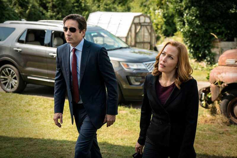 RADARPAR David Duchovny och Gillian Anderson som agenterna Mulder och Scully.